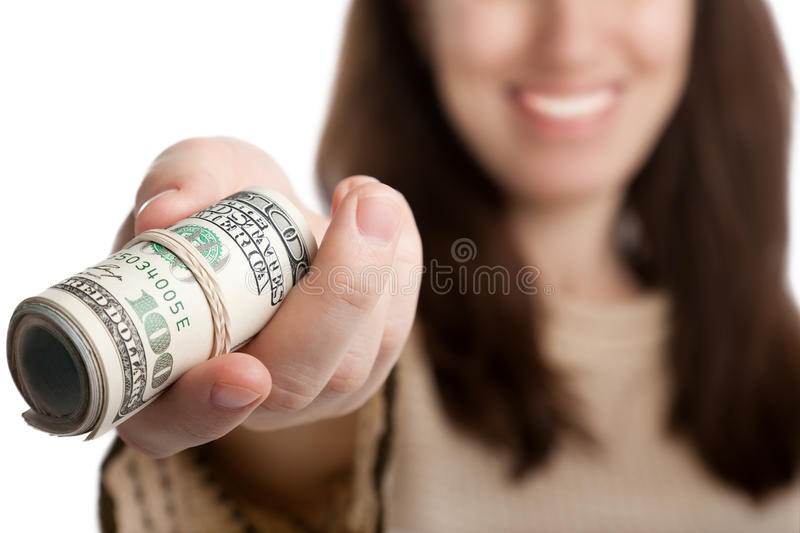 Dollar currency in hand