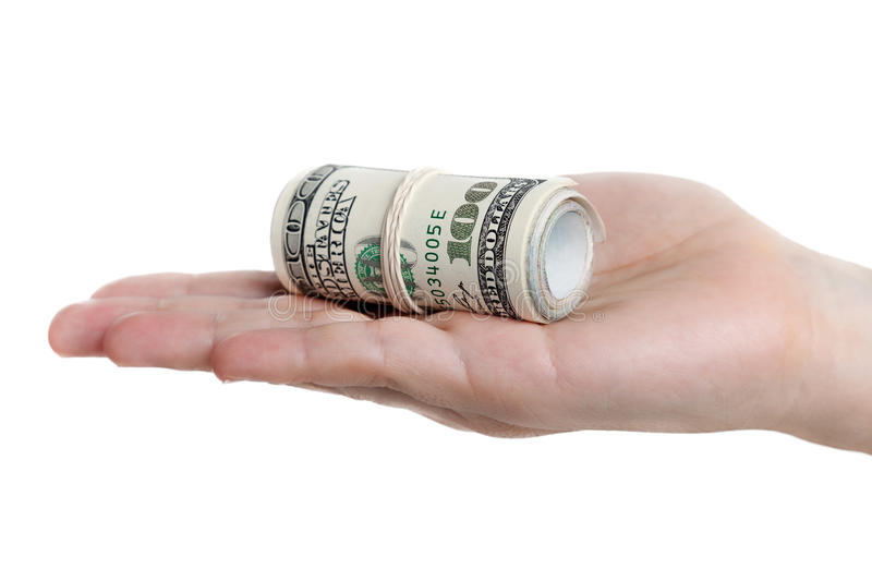 Download Dollar currency in hand stock photo. Image of financial - 16988504