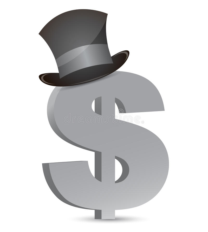 Dollar currency and hat