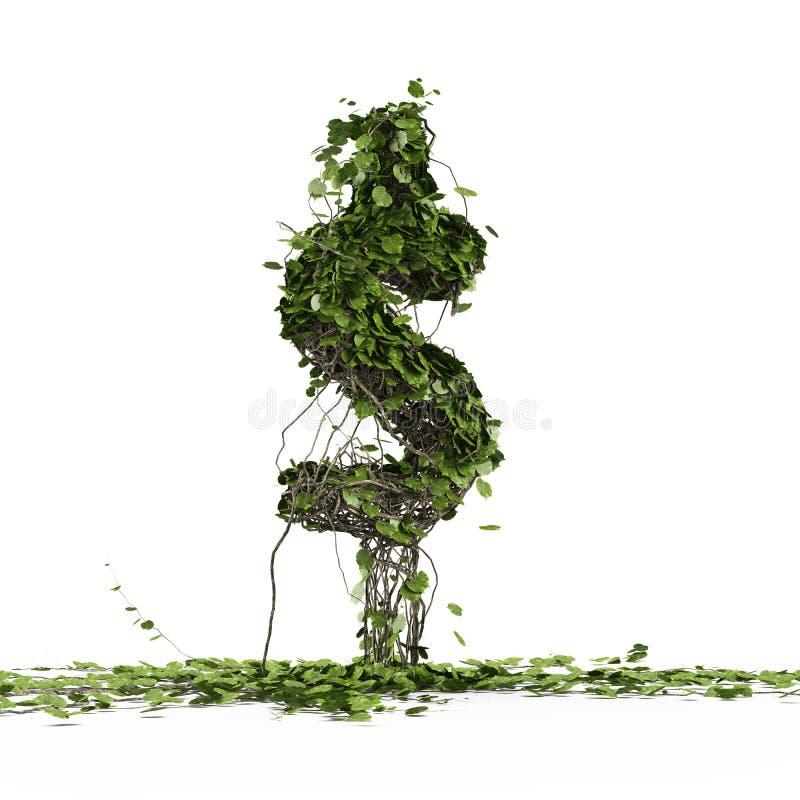 Download Dollar Currency Symbol  Shaped Plant Stock Illustration - Image: 27625116
