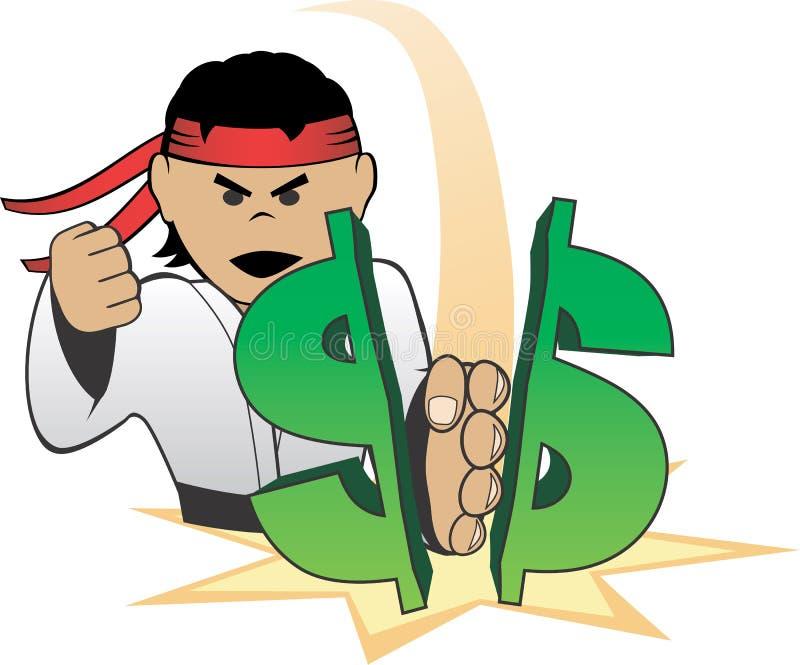 Dollar de Choping de karaté illustration de vecteur