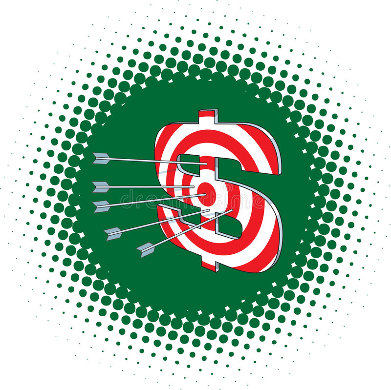 Dollar de cible illustration stock