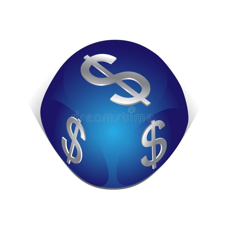 dollar de cube illustration libre de droits