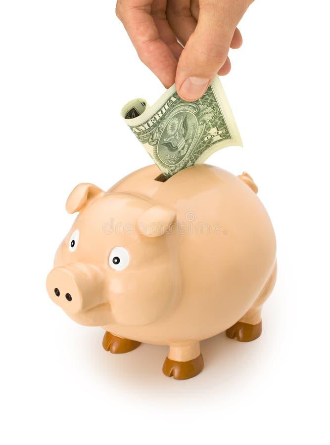 dollar de dépôts en banque porcin photo stock
