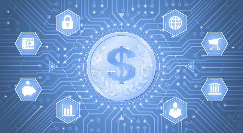 Dollar de Digital illustration stock
