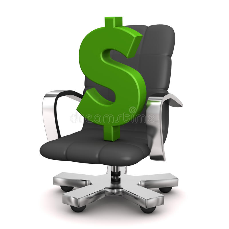 Dollar de fauteuil illustration de vecteur