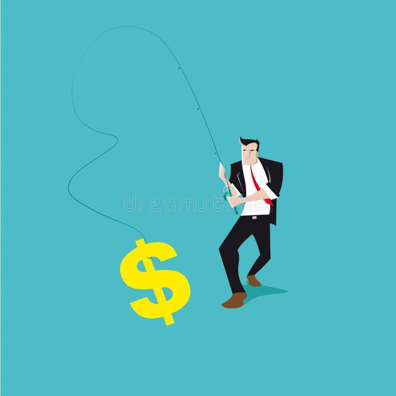Dollar de pêche illustration libre de droits