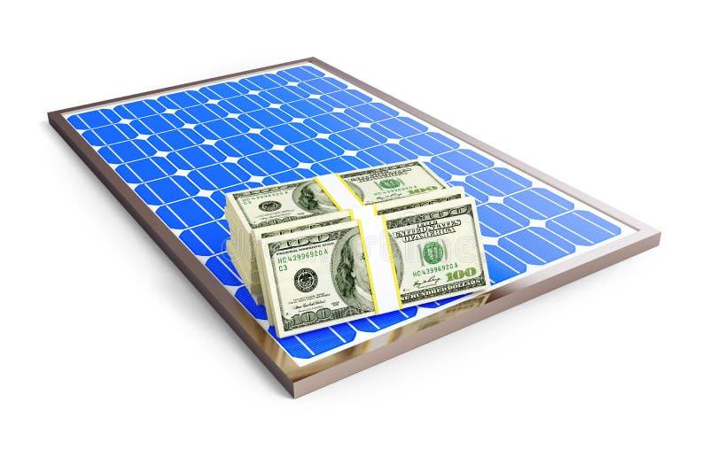 Dollar de panneau solaire illustration stock