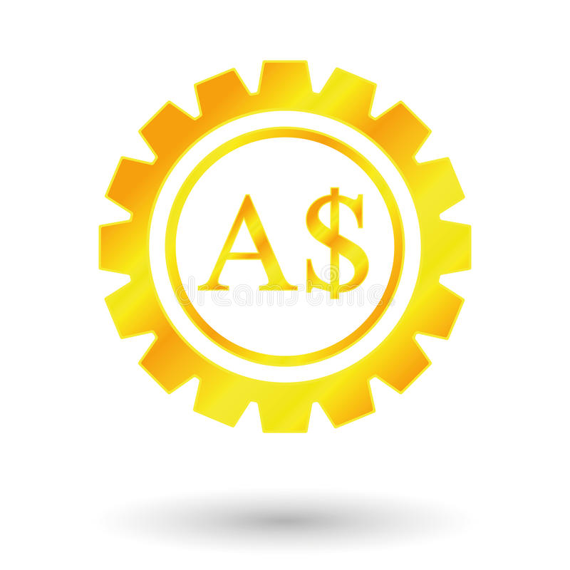 Dollar de symbole d'or illustration stock