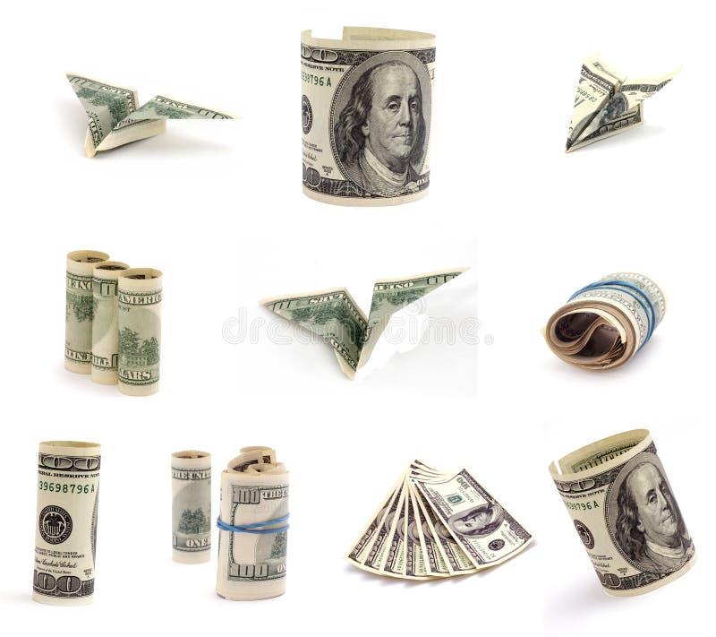 dollar diagram royaltyfri bild