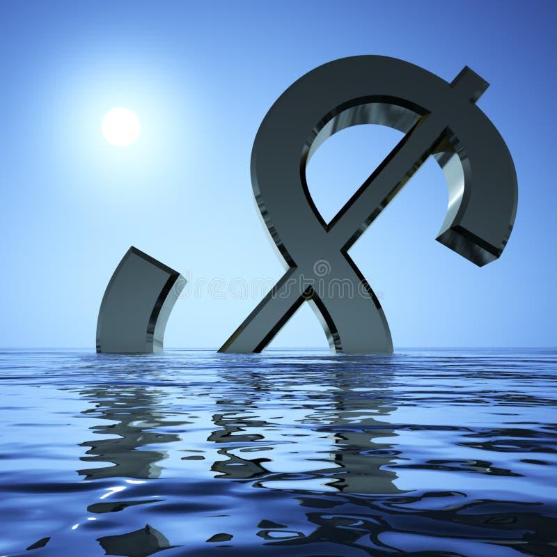 Dollar die in het Overzees daalt royalty-vrije illustratie