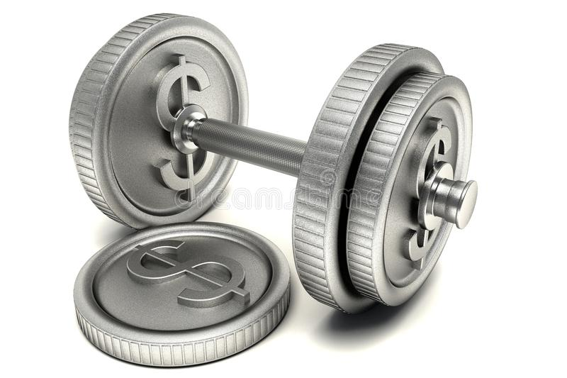 Download Dollar Dumbbell stock illustration. Image of currency - 26350255