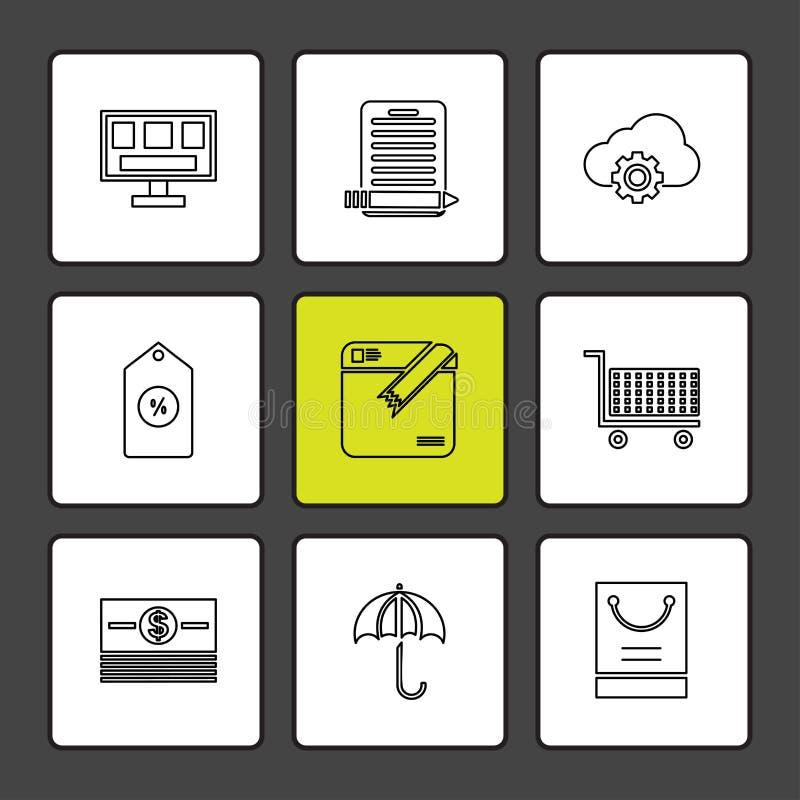 Dollar , ecg , search , bugs , technology , communication , eps. Dollar , ecg , search , bugs , technology , communication , money , eye , seo , umbrella vector illustration