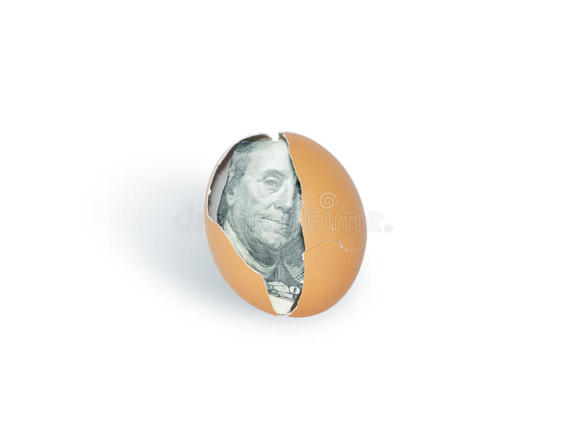 Download Dollar into egg stock image. Image of concept, broken - 24121857