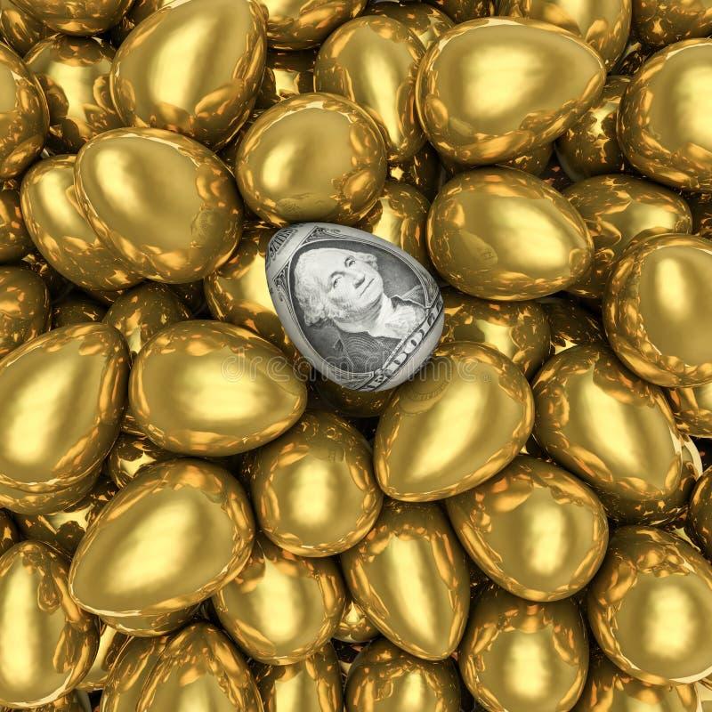 Dollar Egg Stock Photo