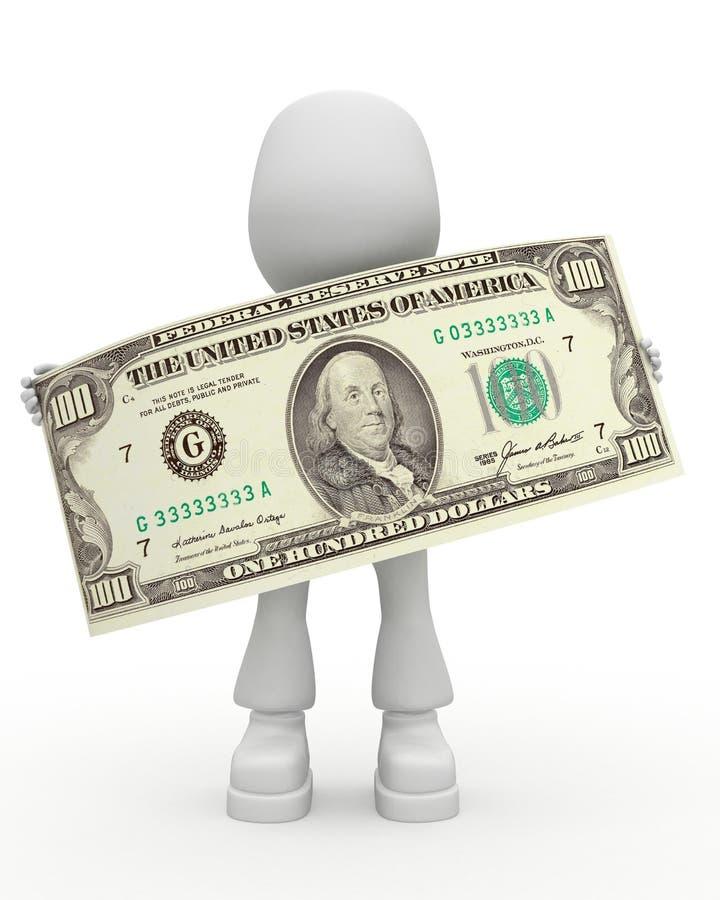Dollar - ein hundert Dollar vektor abbildung