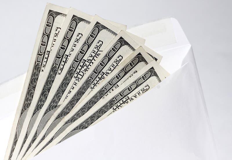Dollar in einem Umschlag 3 lizenzfreies stockbild