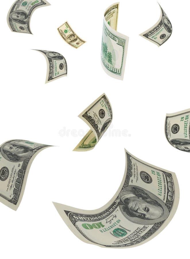Dollar in einer Luft, vertikal. stockfoto