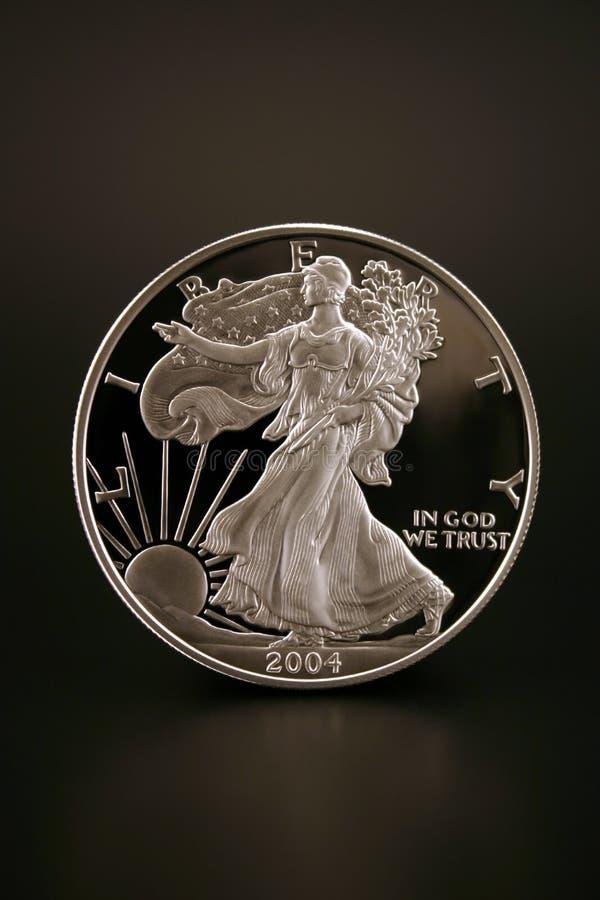 Dollar en argent image libre de droits