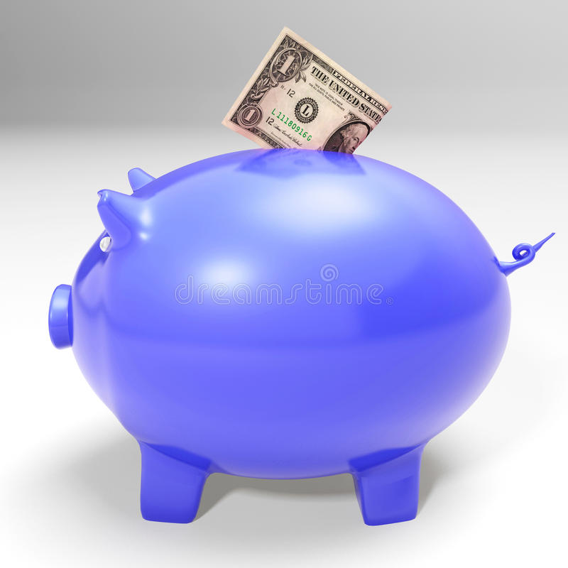 Download Dollar Entering Piggybank Showing American Savings Stock Images - Image: 29592694
