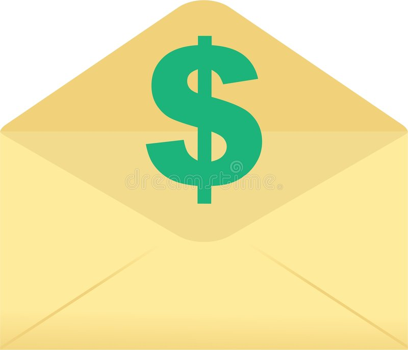 Dollar envelope vector illustration