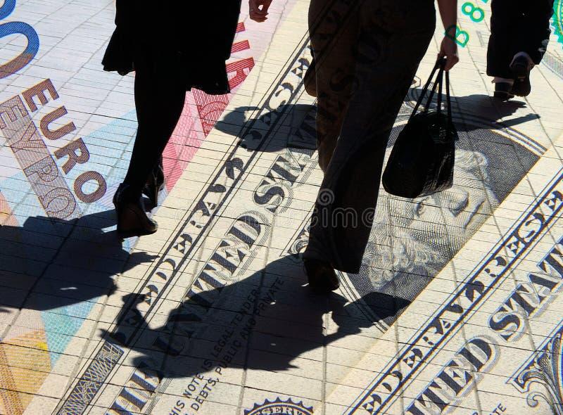Dollar et euro clients photo libre de droits