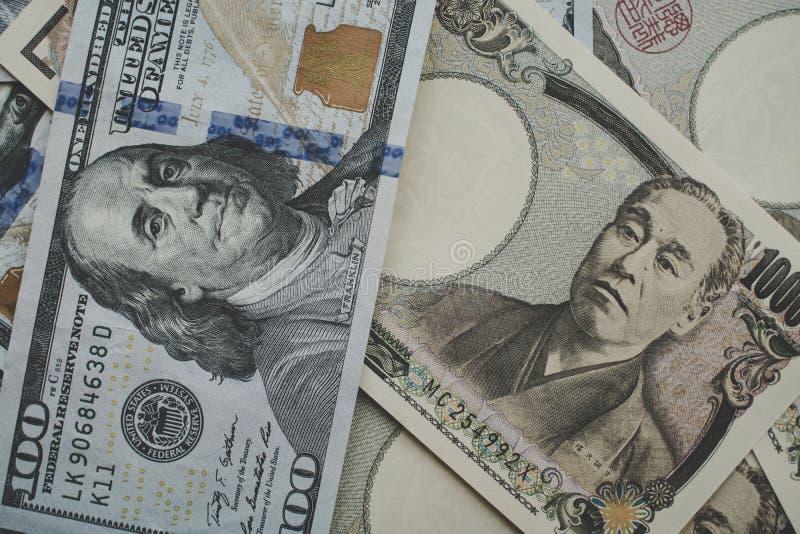 Dollar et Yens image libre de droits