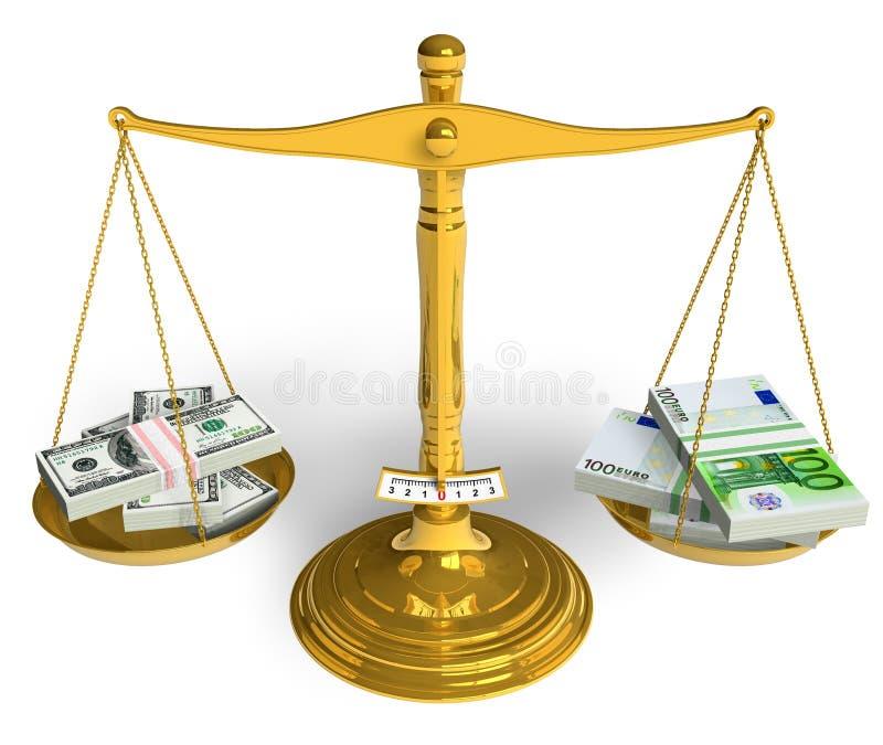 Download Dollar or Euro? stock illustration. Illustration of bank - 15492713