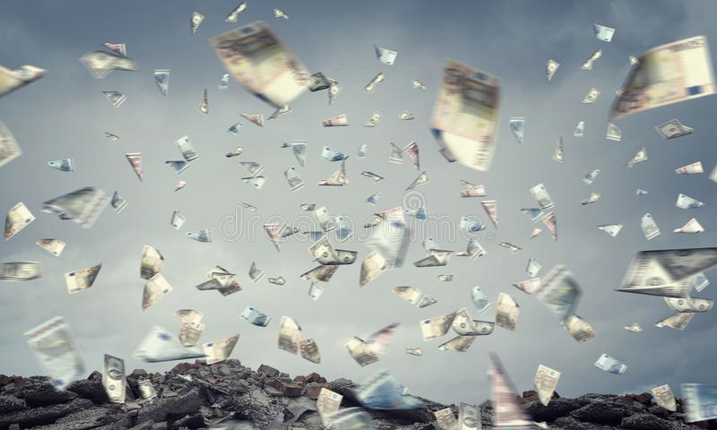 It is raining money royalty free stock photo