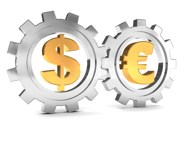 Download Dollar And Euro Cooperation Stock Illustration - Image: 11896216