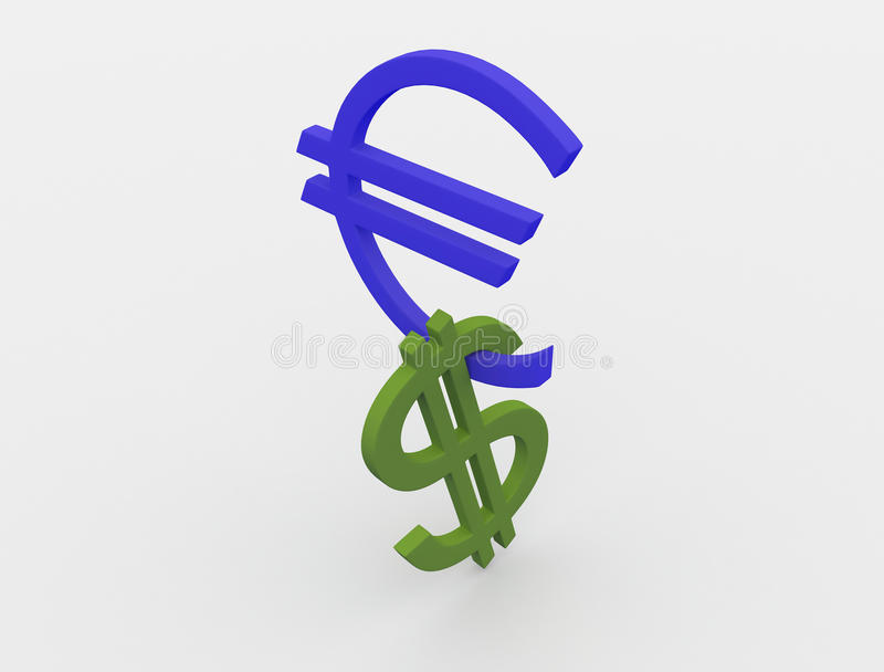 Dollar And Euro Stock Image