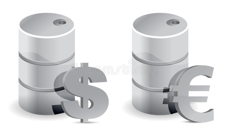 Download Dollar And Euro Oil Prices Royalty Free Stock Photography - Image: 27680227