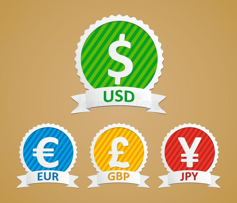 Download Dollar, Euro, Yen And Pound Stock Vector - Illustration of internet, deposit: 26793280