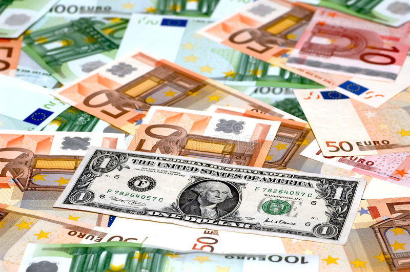 Download Dollar & Euros stock image. Image of goods, currency, bank - 1928385