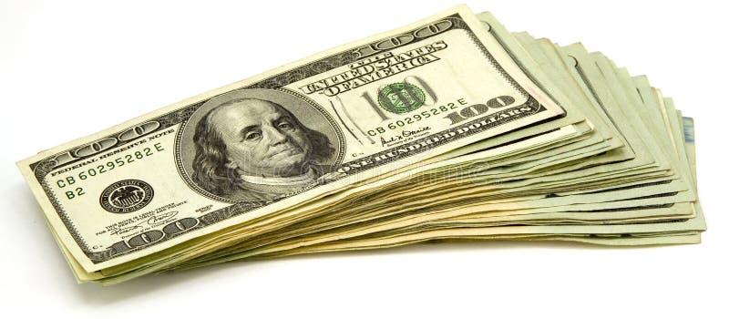 dollar för 100 bills royaltyfria foton