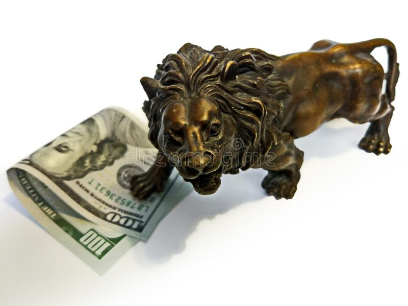 Dollar för pengarfinansinvestering royaltyfri foto