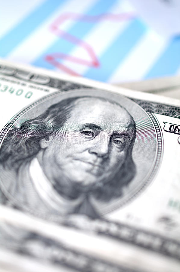 Download Dollar With Financial Graph Royalty Free Stock Photography - Image: 19324477