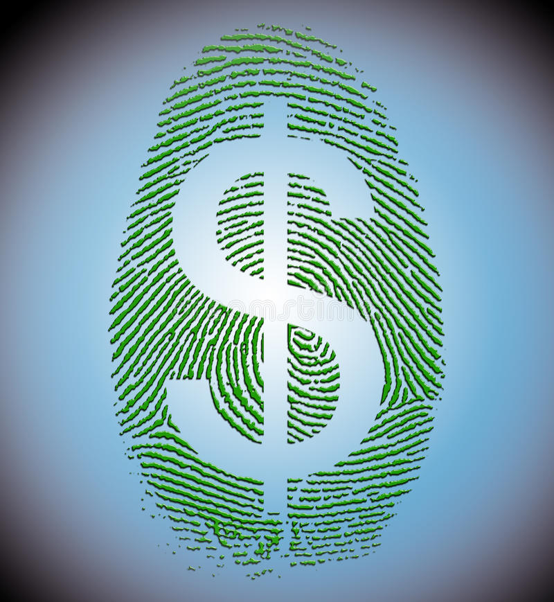 Download Dollar Finger Print stock illustration. Illustration of evidence - 23495198