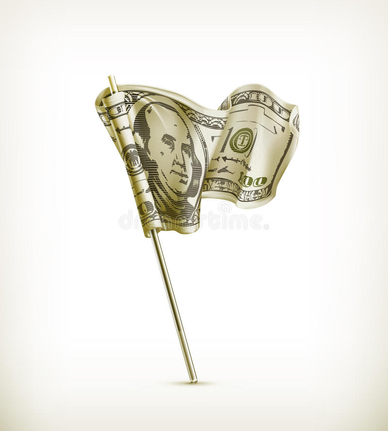 Dollar Flag Royalty Free Stock Photo