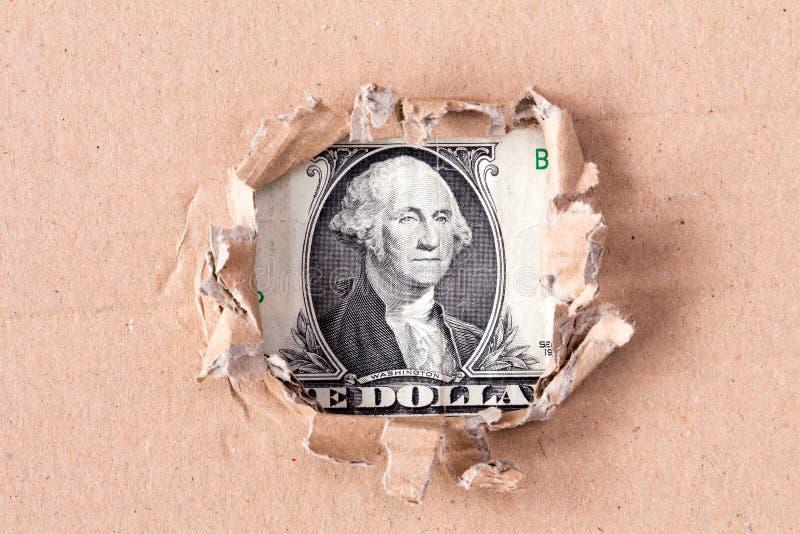 Dollar in gat royalty-vrije stock fotografie