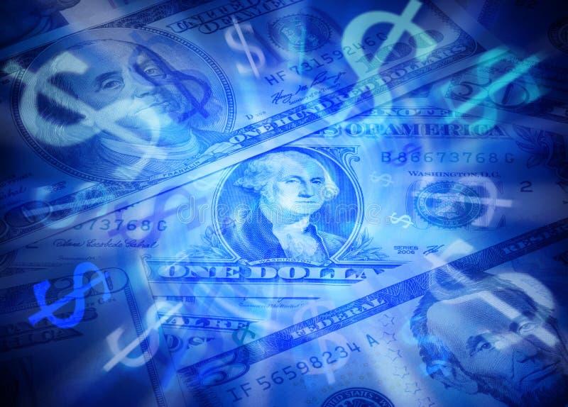 Dollar Geld-Hintergrund- stockfotografie