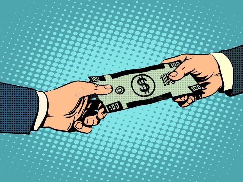 Dollar-Geschäftskonzept des Geldes kaufendes stock abbildung