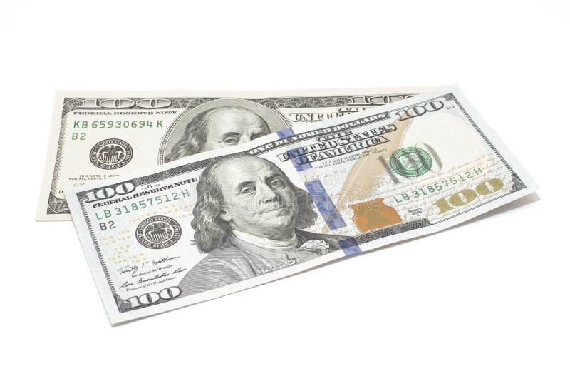 Dollar getrennt auf Weiß stockfoto