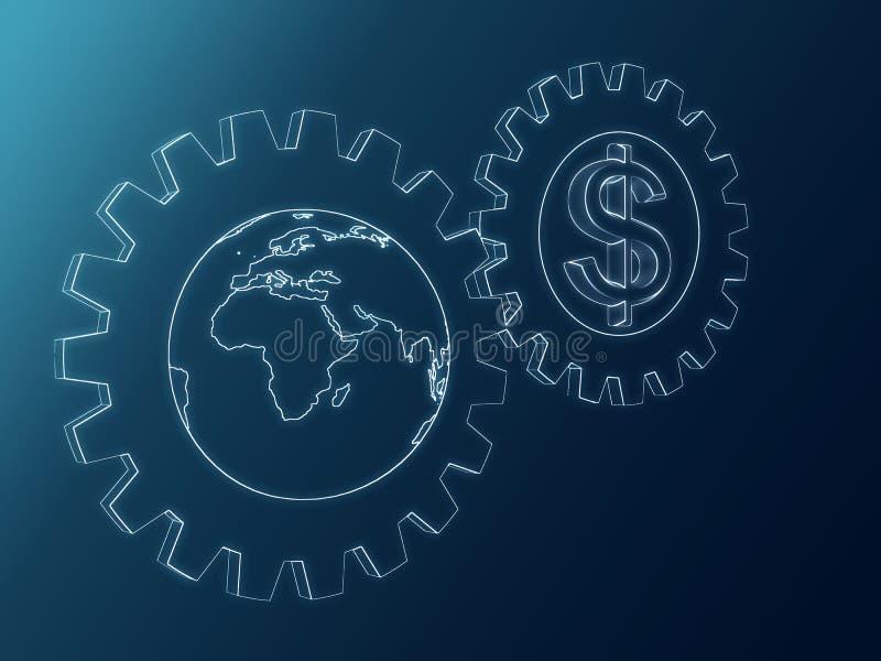 Download Dollar and Globe stock illustration. Illustration of dollar - 25931855