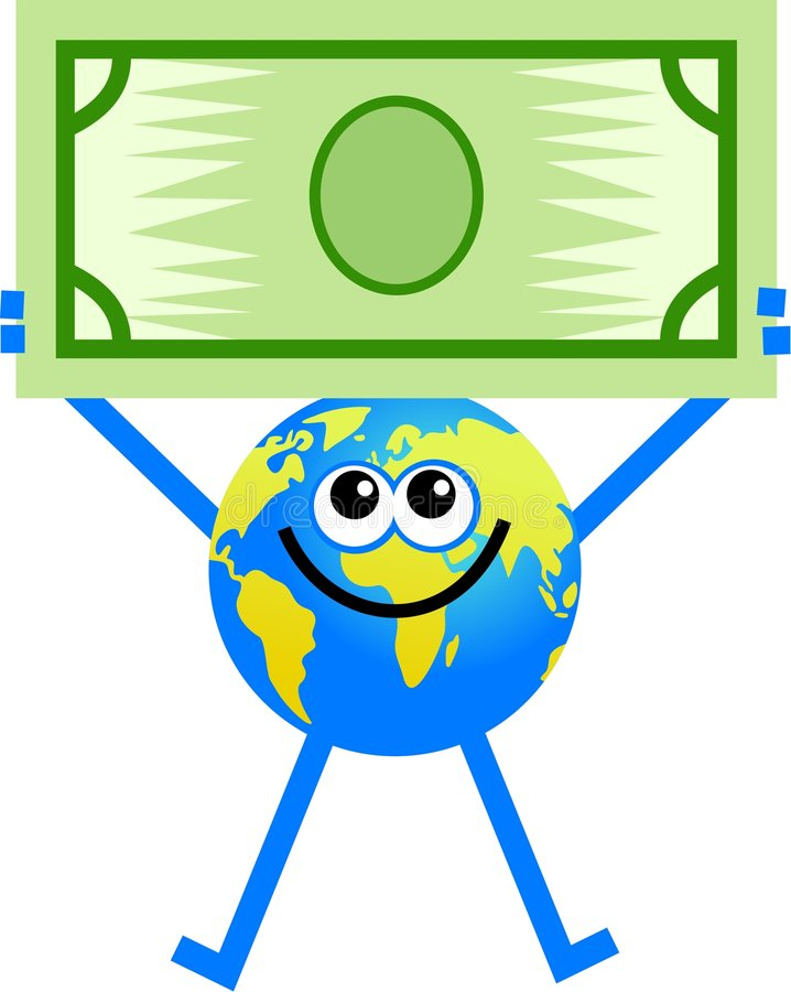 Dollar globe stock illustration