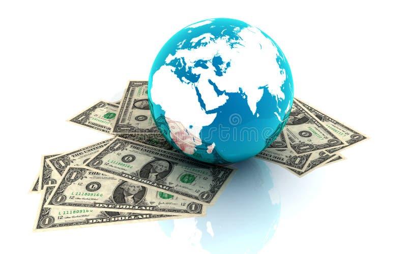 Download Dollar and globe stock illustration. Illustration of analyst - 32003114