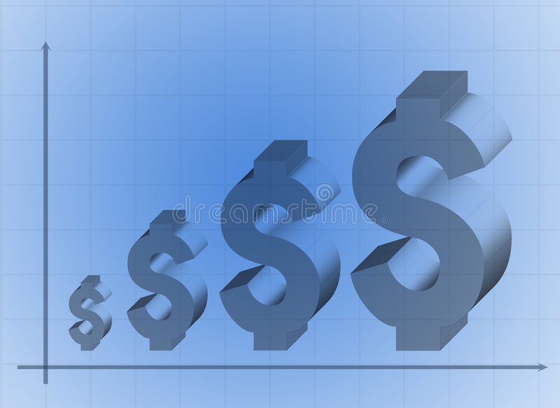 Dollar graph royalty free illustration