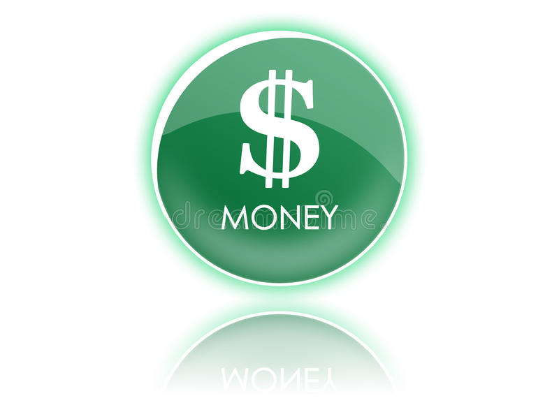 Download Dollar green button stock illustration. Image of sign - 10202737