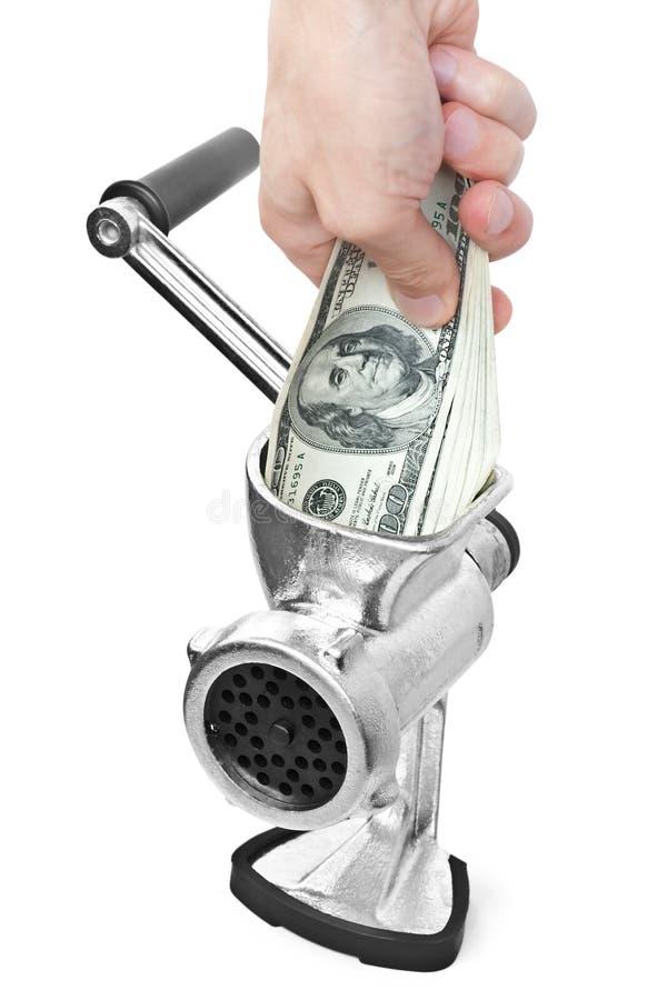dollar grinderhand fotografering för bildbyråer