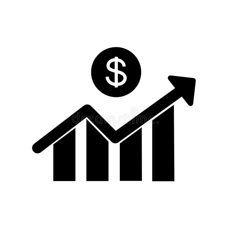 Dollar Growth Statistics Symbol Design Stock Illustration